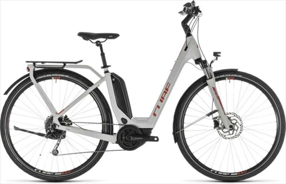 CUBE TOURING HYBRID 400 GREY/ORANGE 2019 EE50