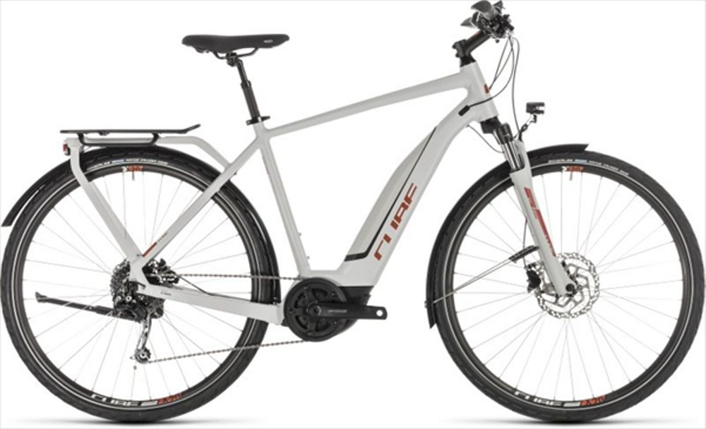 CUBE TOURING HYBRID 500 GREY/ORANGE 2019 58CM