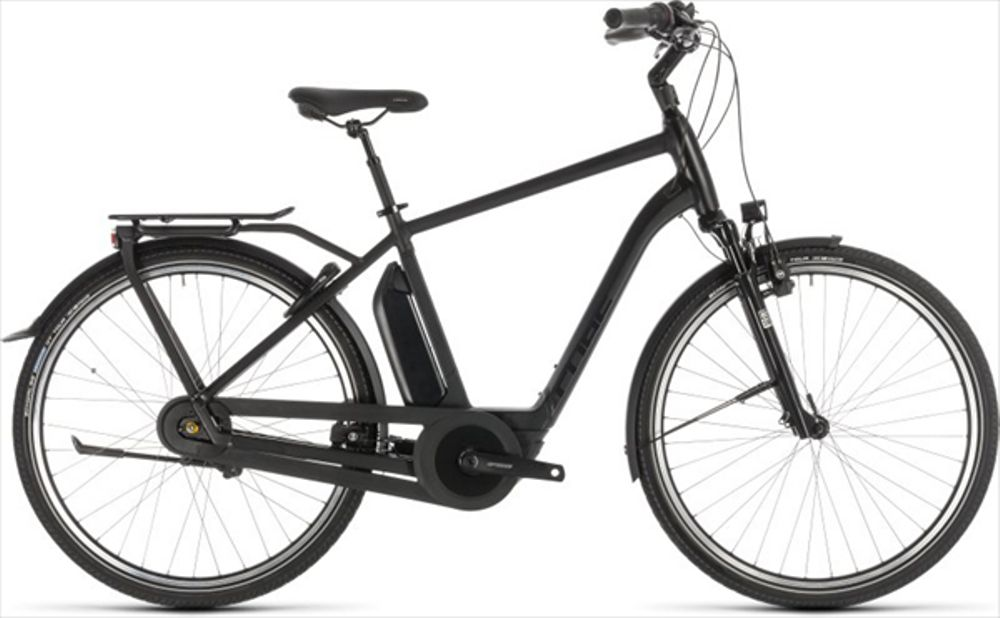 CUBE TOWN HYBRID EXC 500 BLACK EDITION 2019 50CM
