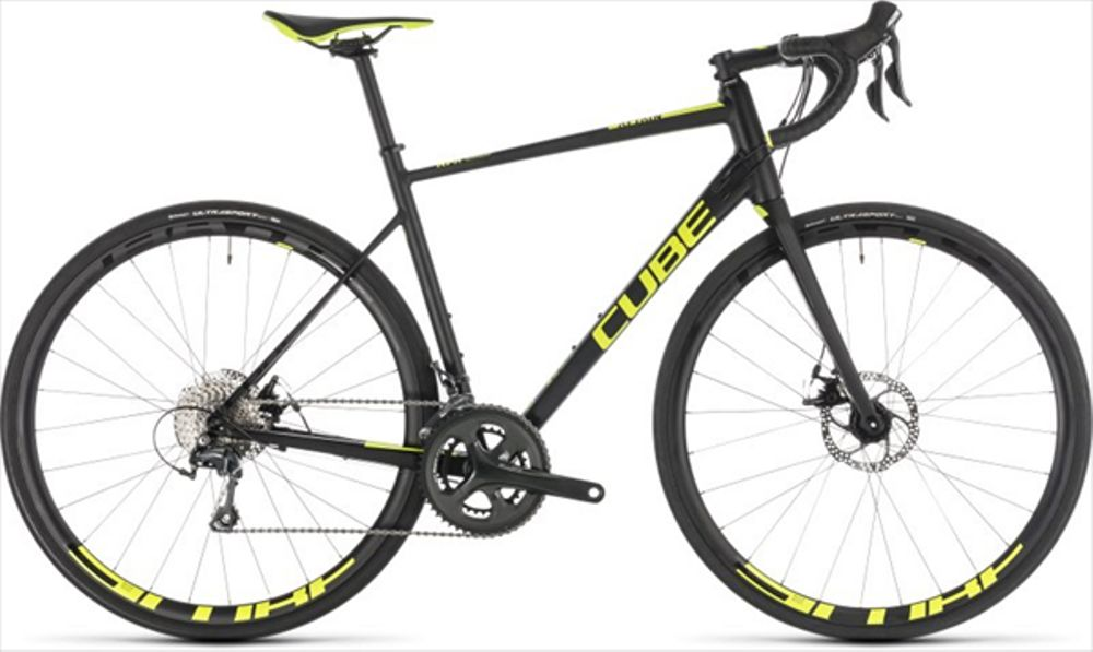CUBE ATTAIN RACE DISC BLACK/FLASHYELLOW 2019 53CM