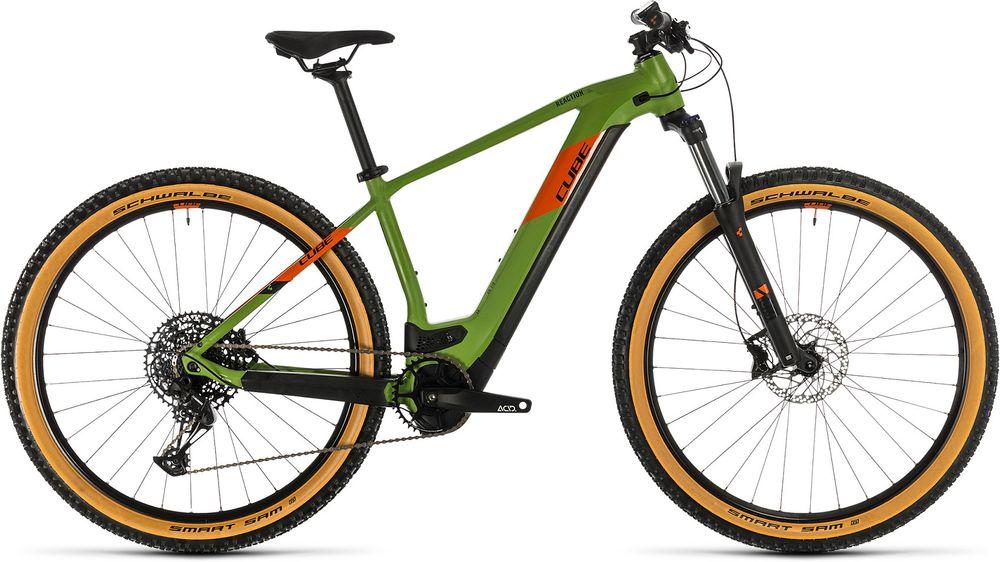 CUBE REACTION HYBRID EX 500 GREEN/ORANGE 2020 21