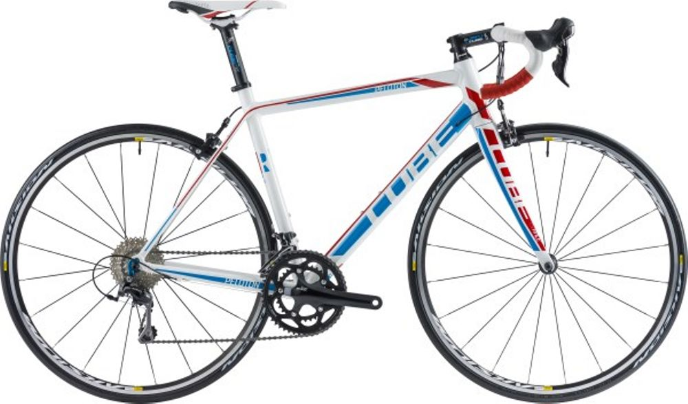 PELOTON RACE COMPACT WHITE BLUENRED 56