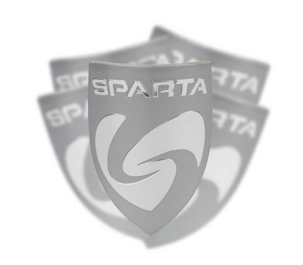 Embleem Sparta Balhoofd 60mm Chroom