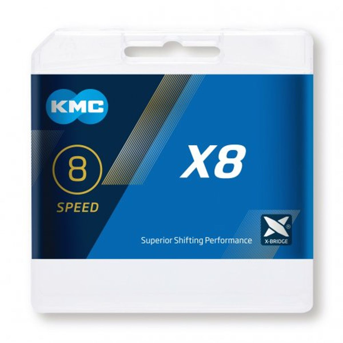KETTING 7/8V 3/32 KMC X8 114 ZI/GRY