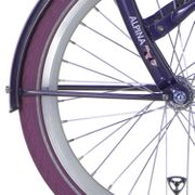 Alpinachterspatbord stang set 26 Clubb purple grey