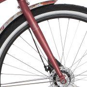 Cortina voorvork Roots red metallic matt