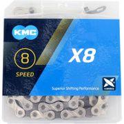 KMC achterwielX8 silver/grey