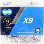 KMC achterwielX9 silver/grey