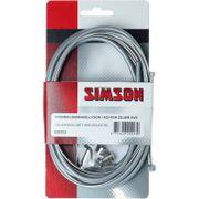 Simson tr remkabelset v/a RVS zilver