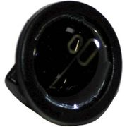 Curanachterspatbord stang bev knop zwart