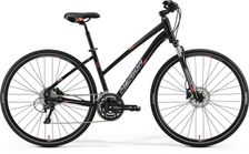 CROSSWAY 300 MATT BLACK/RED/GREY 54CM LADIES