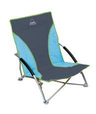 Camp-Gear - Beach chair - Compact - Blauw/grijs