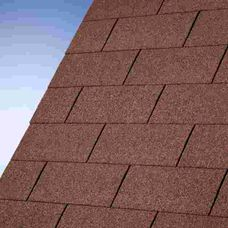 Interline Roofing Black 3 m2 rectangle Dark red