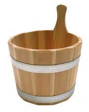 Interline Sauna bucket larch lacquered 5 Litre