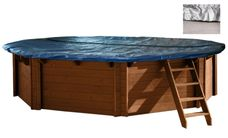Interline Winterabdeckung Holz-Pools Ø 4,34 m 6-Eck - mit mesh