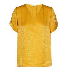 Xandres Gold Blouse geel V-hals X-ALETTE