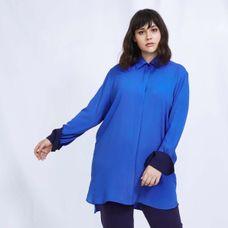 Sallie Sahne Blouse lang blauw RAMES