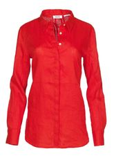 Open End Blouse linnen rood