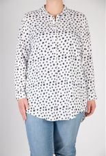 Request Blouse met ster wit/marine