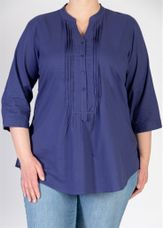 Open End Blouse plisse blauw