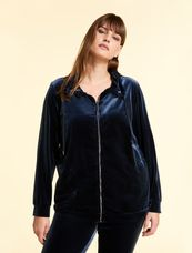 Marina Rinaldi Easy vest met rits blauw ORO