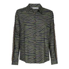 Xandres Gold Groene blouse met zebra print
