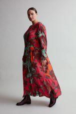 Sallie Sahne Jurk kleurrijk bladeren NOPI