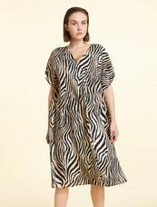 Marina Rinaldi Sport Jurk zebra print DIASPRO