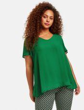Samoon Shirt V-hals