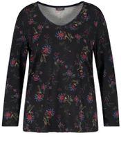 Samoon Shirt V-hals bloemenprint