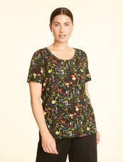 Marina Rinaldi Shirt bloemen zwart VANIGLIA