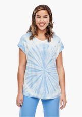 Triangle Shirt met blauwe batik print