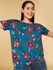 Persona Shirt met bloem BLU