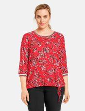 Samoon Shirt met bloemenmotief