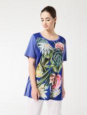 Marina Rinaldi Shirt met bloemenprint VARIANZ
