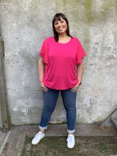 Frapp Shirt met voile kapmouw roze