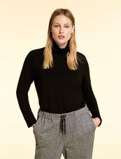 Marina Rinaldi Sport Shirt mouw en col zwart ZAINO