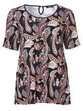Frapp Shirt ronde hals paisley