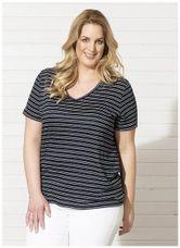 Request Shirt streep linnen blauw