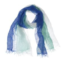Xandres Gold Sjaal linnen blauw X-TANGI