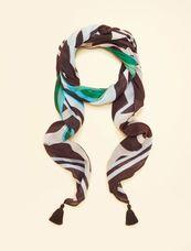 Marina Rinaldi Sport Sjaal met print groen SALOMONE