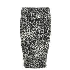 Yoek Black Label Skirt tube grey leopard