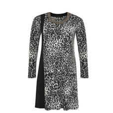 Yoek Black Label Tunic grey leopard