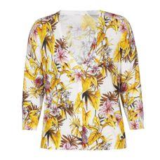 Xandres Gold Vest bloemenmotief X-GYVANO