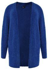 Yoek Vest gebreid met zakken blauw