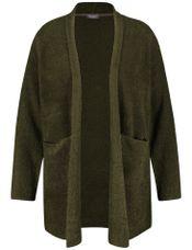 Samoon Vest gebreid groen