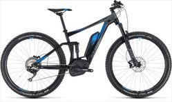 CUBE STEREO HYBRID 120 EXC 500 BLACK/BLUE 2018 19
