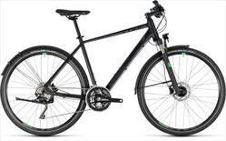 CUBE CROSS ALLROAD BLACK/GREEN 2018 62 CM