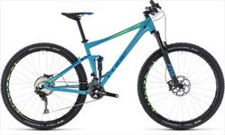 CUBE STEREO 120 RACE BLUE/GREEN 2018 19