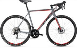 CUBE CROSS RACE PRO GREY/RED 2018 53 CM